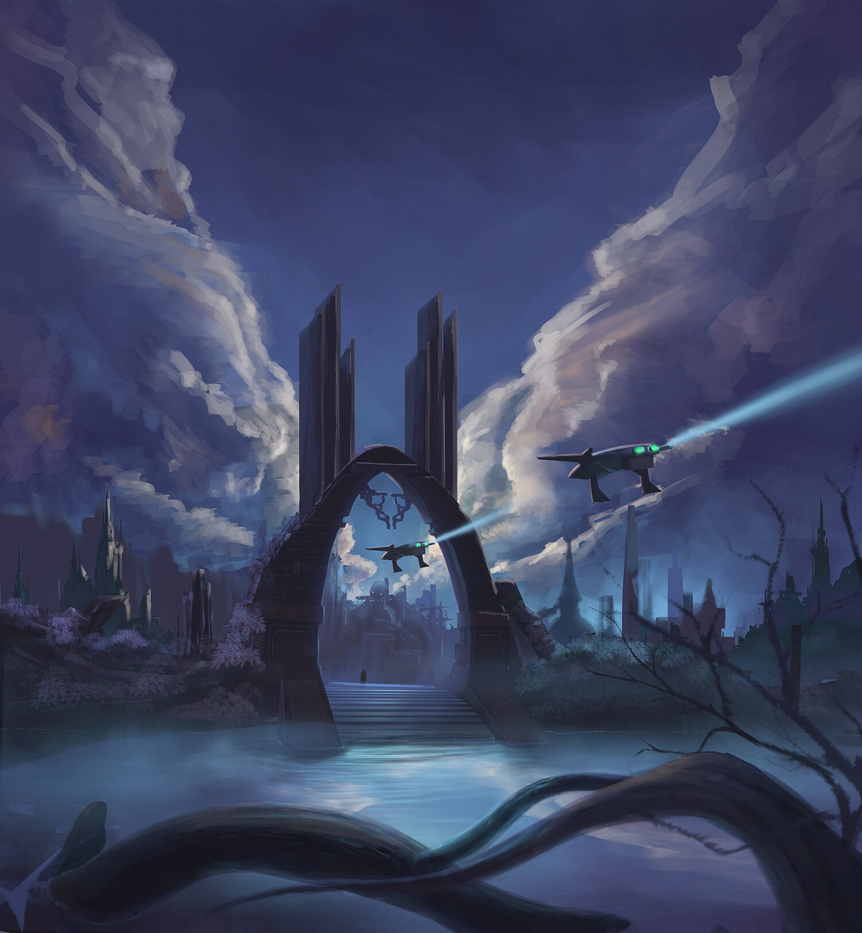 59761 Screensavers and Wallpapers Fiction for phone. Download Art, City, Sci-Fi, Fiction, That's Incredible, Portal, Spaceships pictures for free