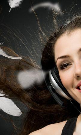 26743 descargar fondo de pantalla Música, Personas, Chicas, Auriculares: protectores de pantalla e imágenes gratis