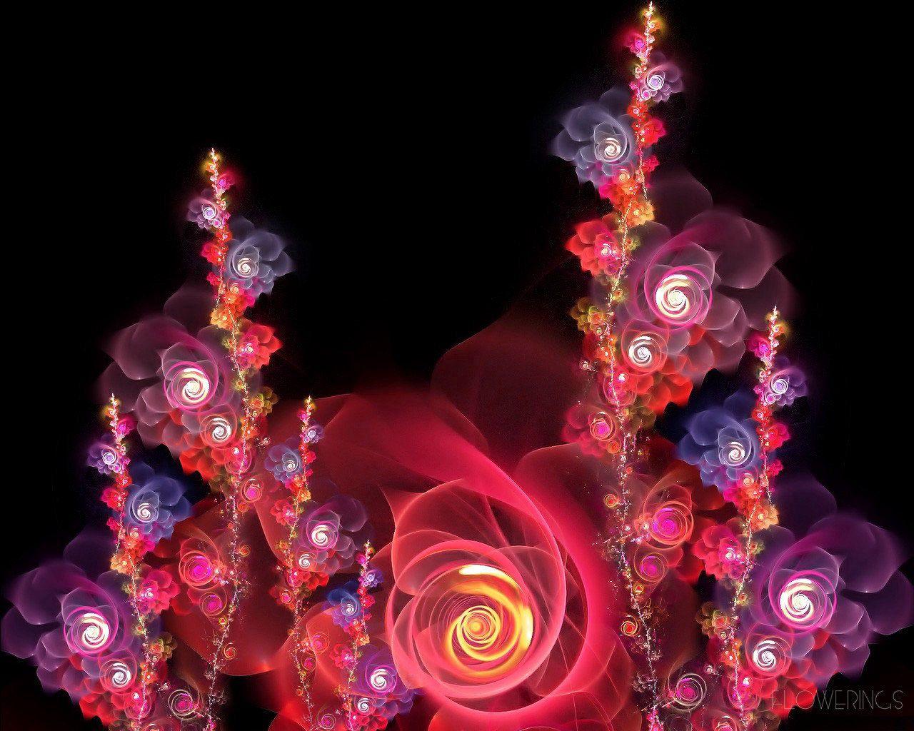 139763 скачать обои Абстракция, Розовый, Красный, Фрактал, Цветы - заставки и картинки бесплатно