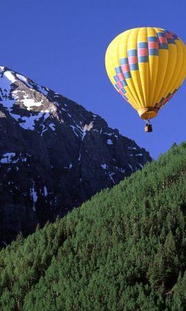 21083 скачать обои Пейзаж, Горы, Воздушные Шары - заставки и картинки бесплатно