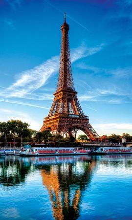 21862 скачать обои Пейзаж, Река, Архитектура, Париж, Эйфелева Башня - заставки и картинки бесплатно
