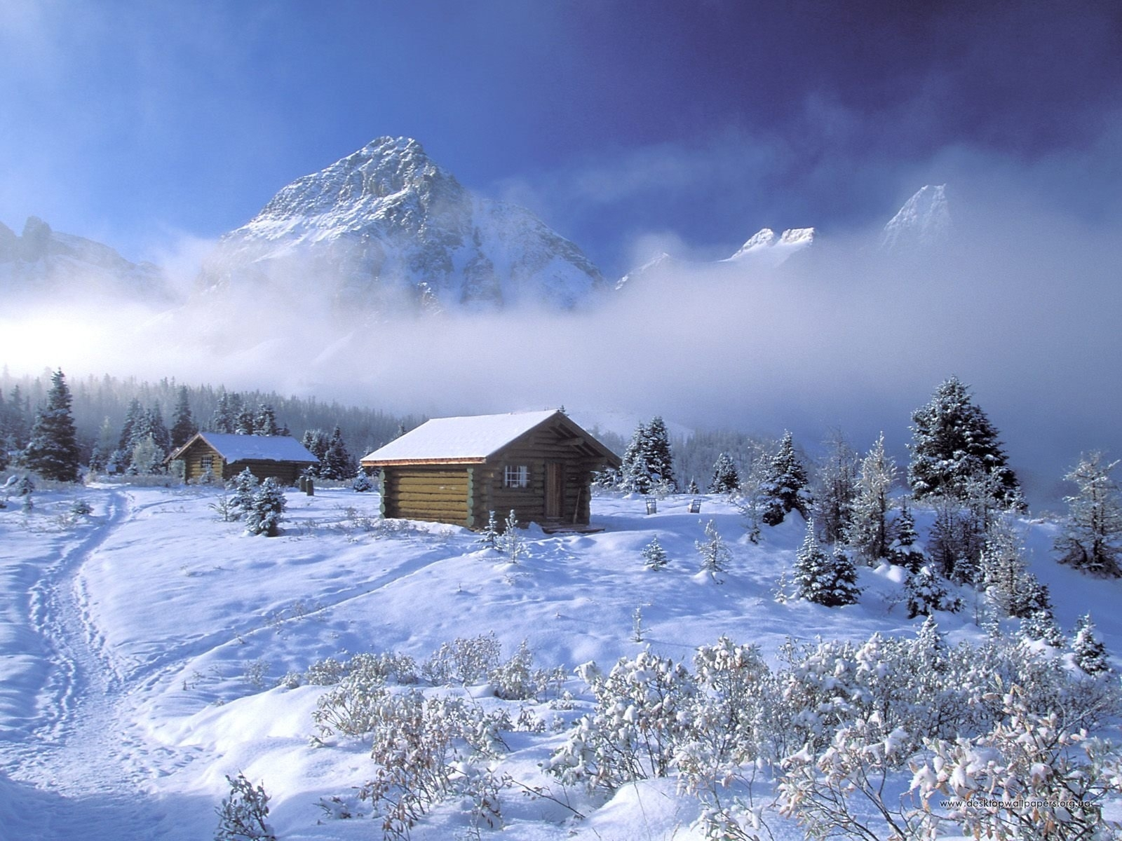 1510 download wallpaper Landscape, Winter, Houses, Snow screensavers and pictures for free