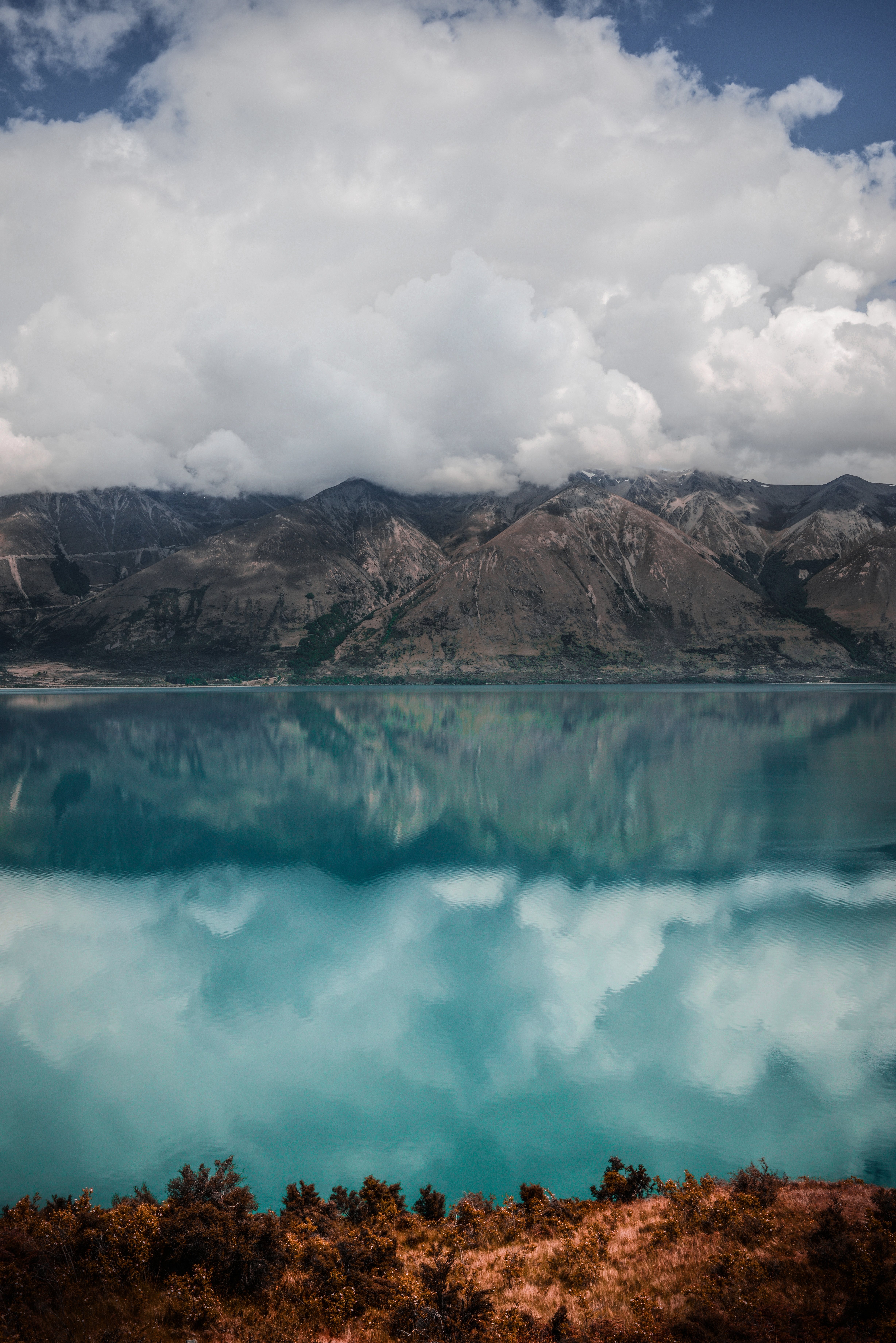 59303 Screensavers and Wallpapers New Zealand for phone. Download Nature, Mountains, Clouds, Lake, New Zealand, Ohau pictures for free