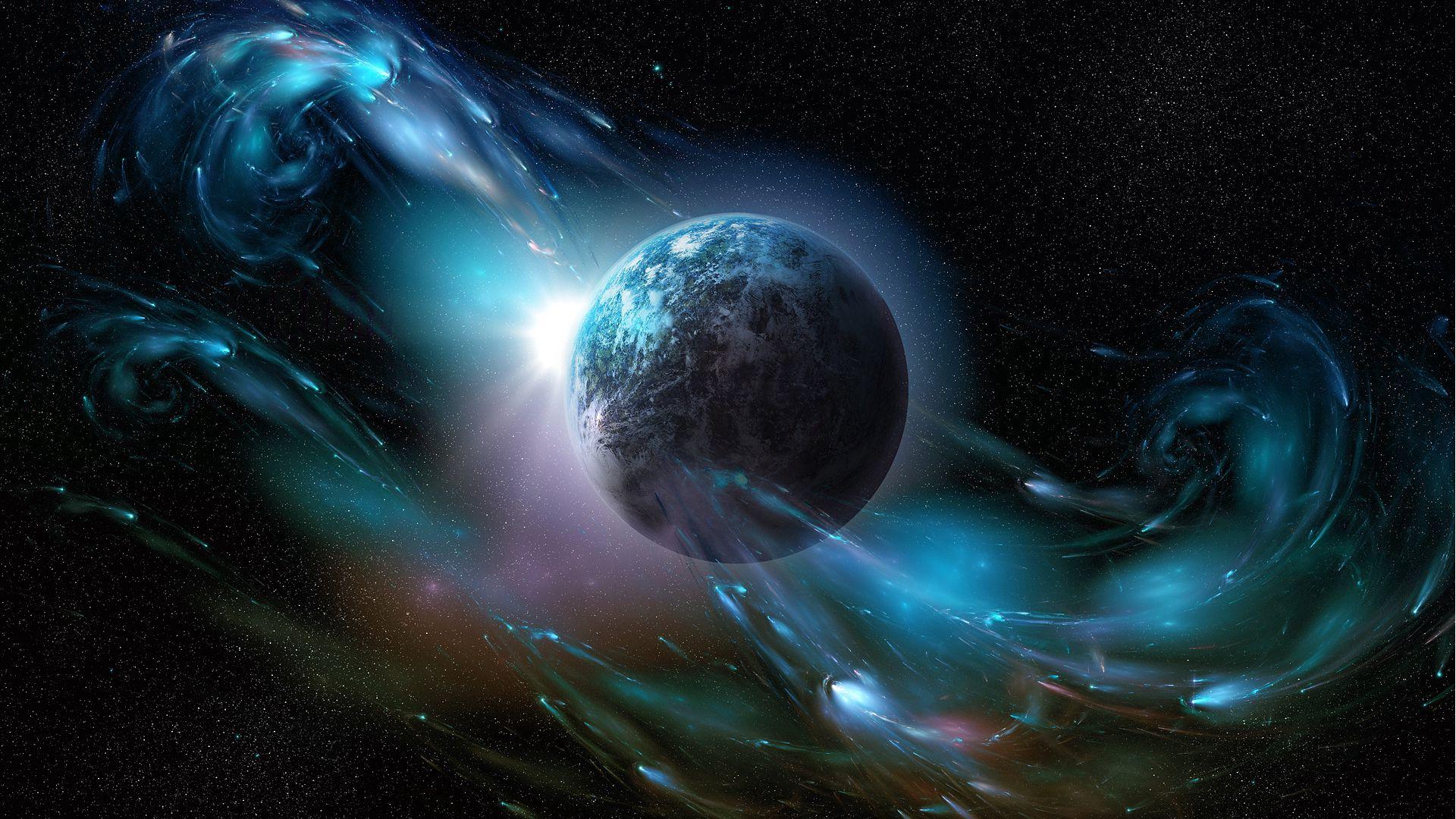 60731 скачать обои Абстракция, Планета, Космический Ветер, Пространство - заставки и картинки бесплатно