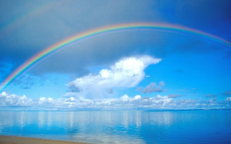 35608 免費下載壁紙 景观, 海, 彩虹 屏保和圖片