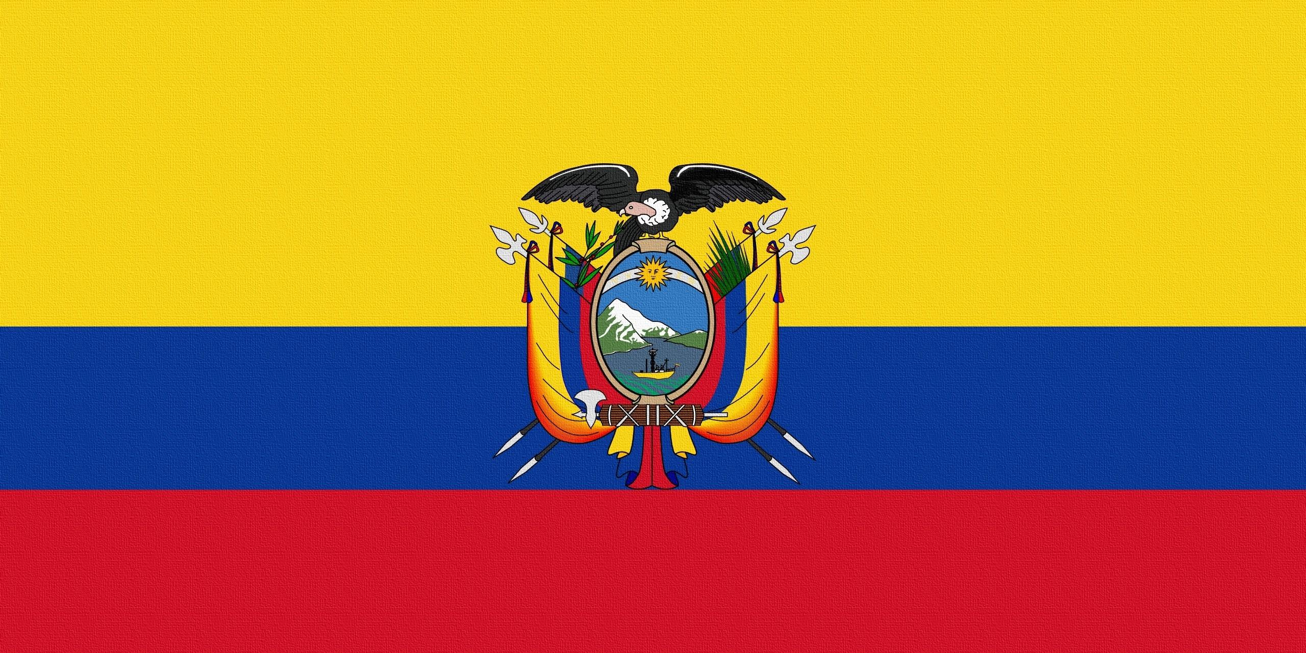 98431 Hintergrundbild herunterladen Wappen, Verschiedenes, Sonstige, Flagge, Flag, Ecuador - Bildschirmschoner und Bilder kostenlos