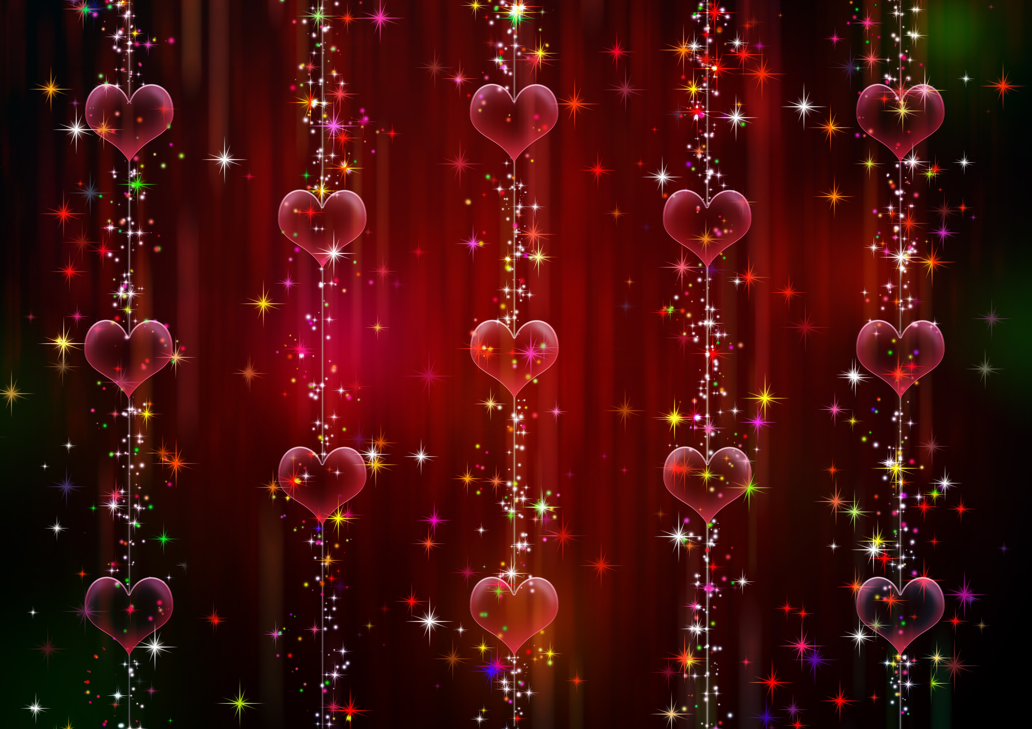 100962 download wallpaper Hearts, Abstract, Shine, Brilliance screensavers and pictures for free