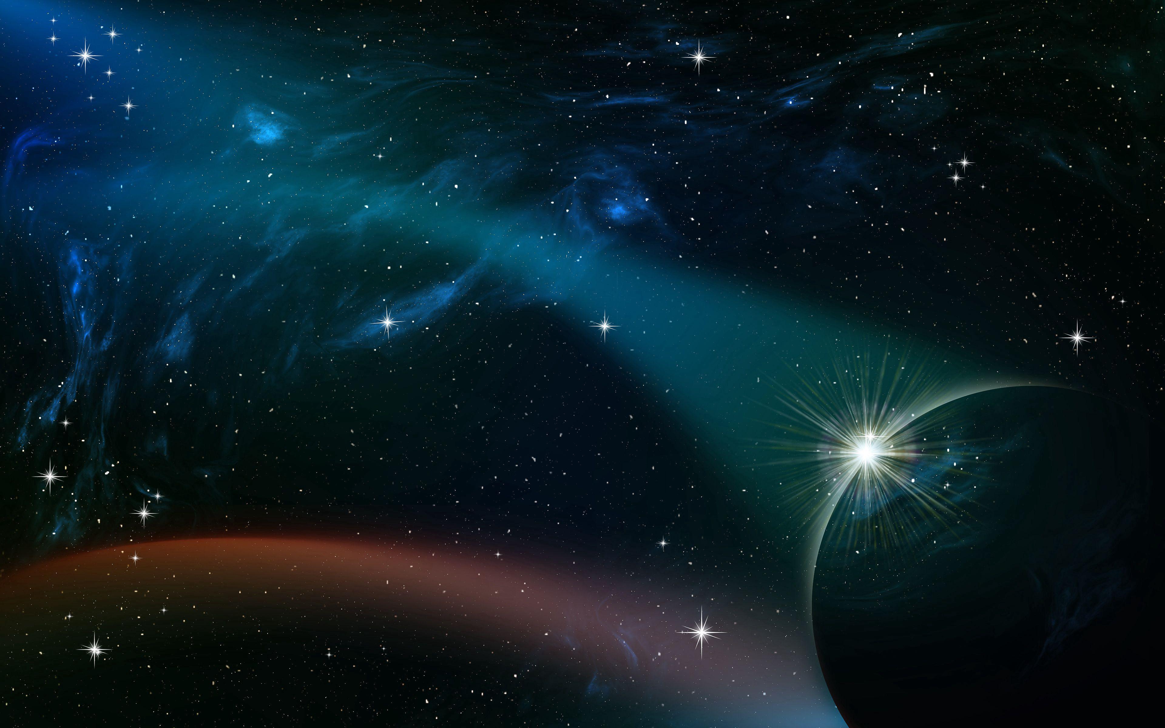 128209 скачать обои Планета, Сияние, Звездное Небо, Галактика, Вселенная, Звезды, Космос - заставки и картинки бесплатно