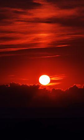93797 Заставки и Обои Солнце на телефон. Скачать Темные, Закат, Темный, Небо, Сумерки, Солнце картинки бесплатно