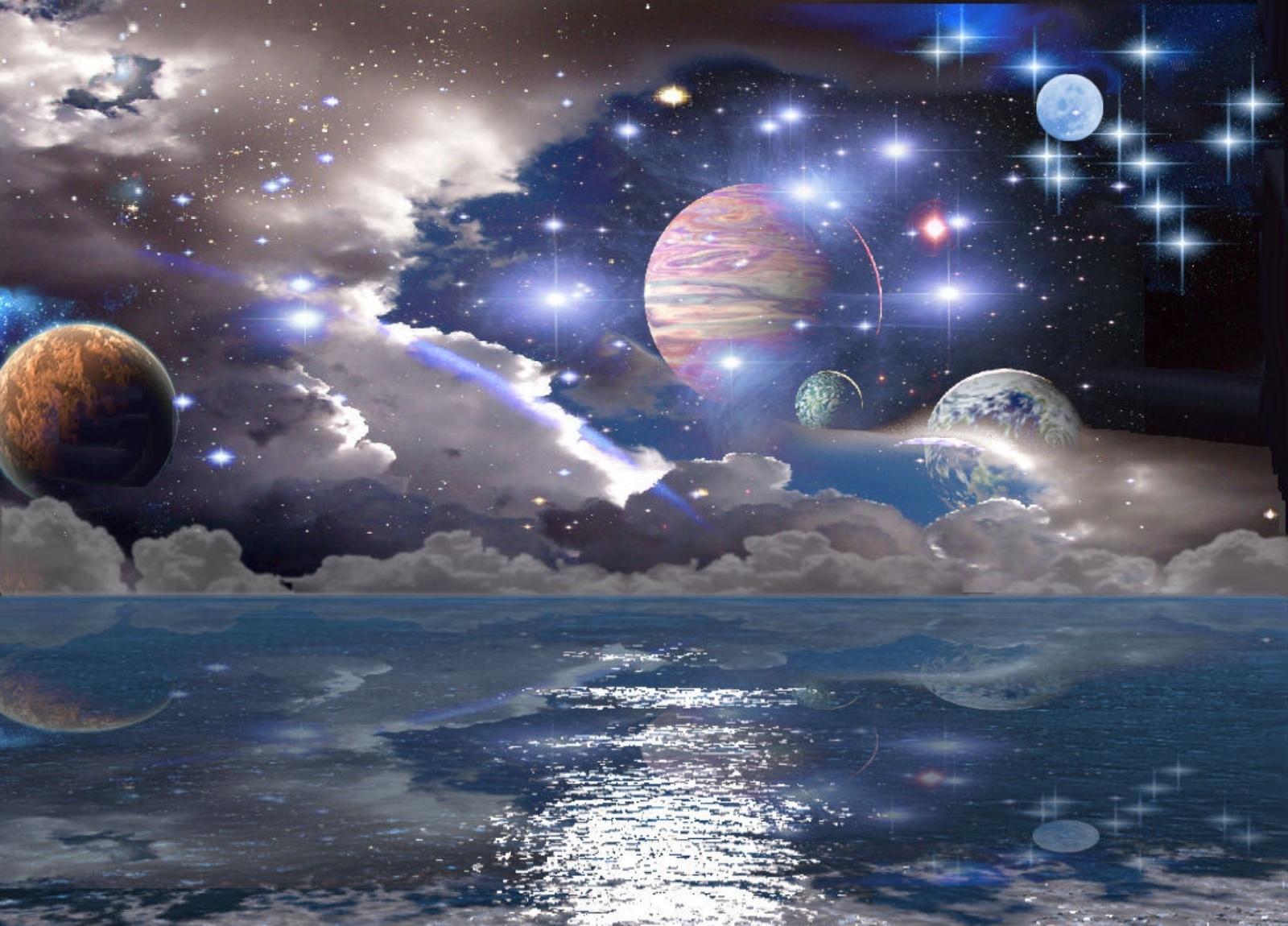 128518 скачать обои Планеты, Абстракция, Свет, Поверхность, Фантазия - заставки и картинки бесплатно