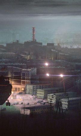 19776 скачать обои Кино, Пейзаж, Города, Ночь, Вертолеты, Крепкий Орешек (Die Hard) - заставки и картинки бесплатно