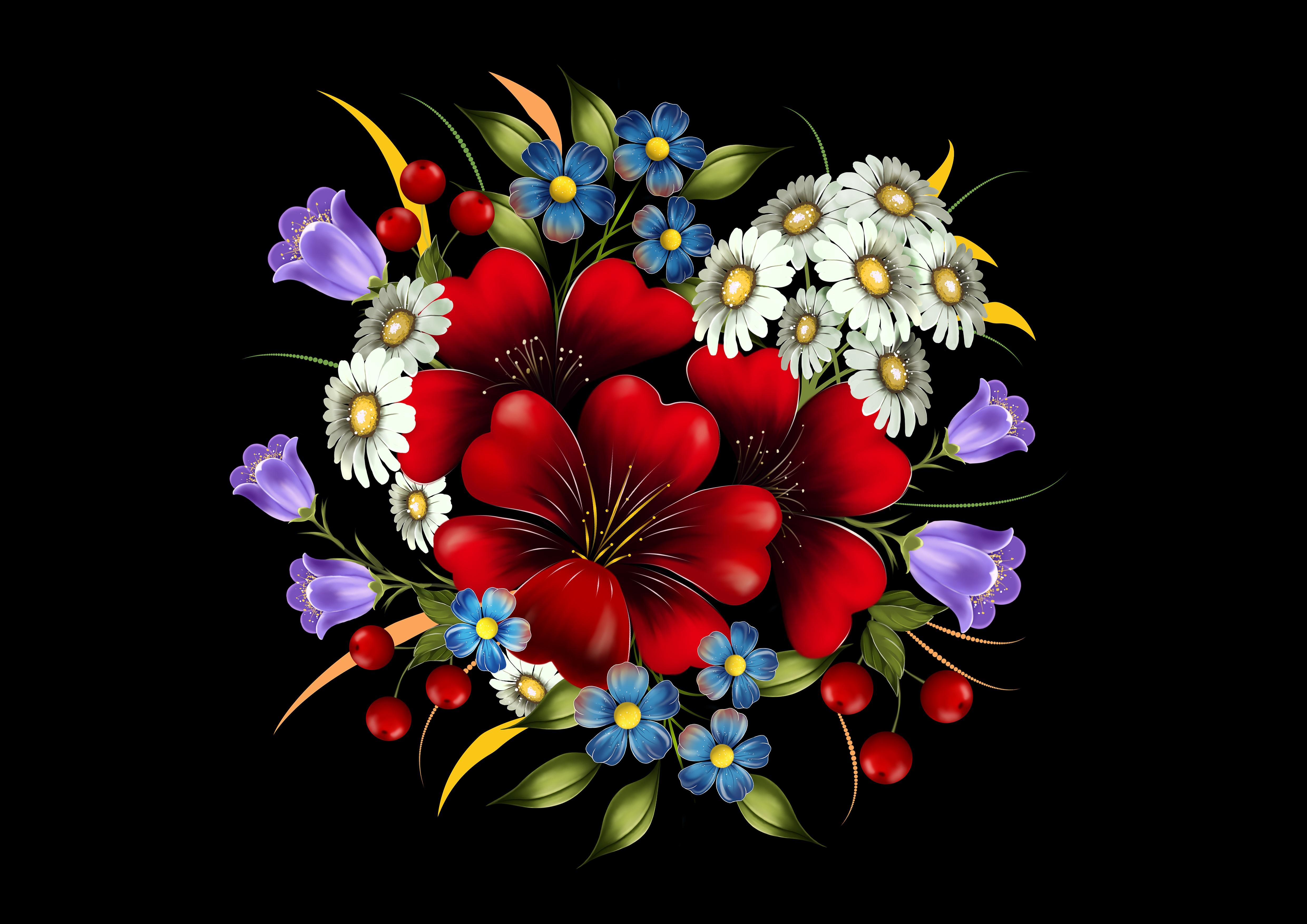 55435 скачать обои Цветы, Букет, Композиция, Арт - заставки и картинки бесплатно