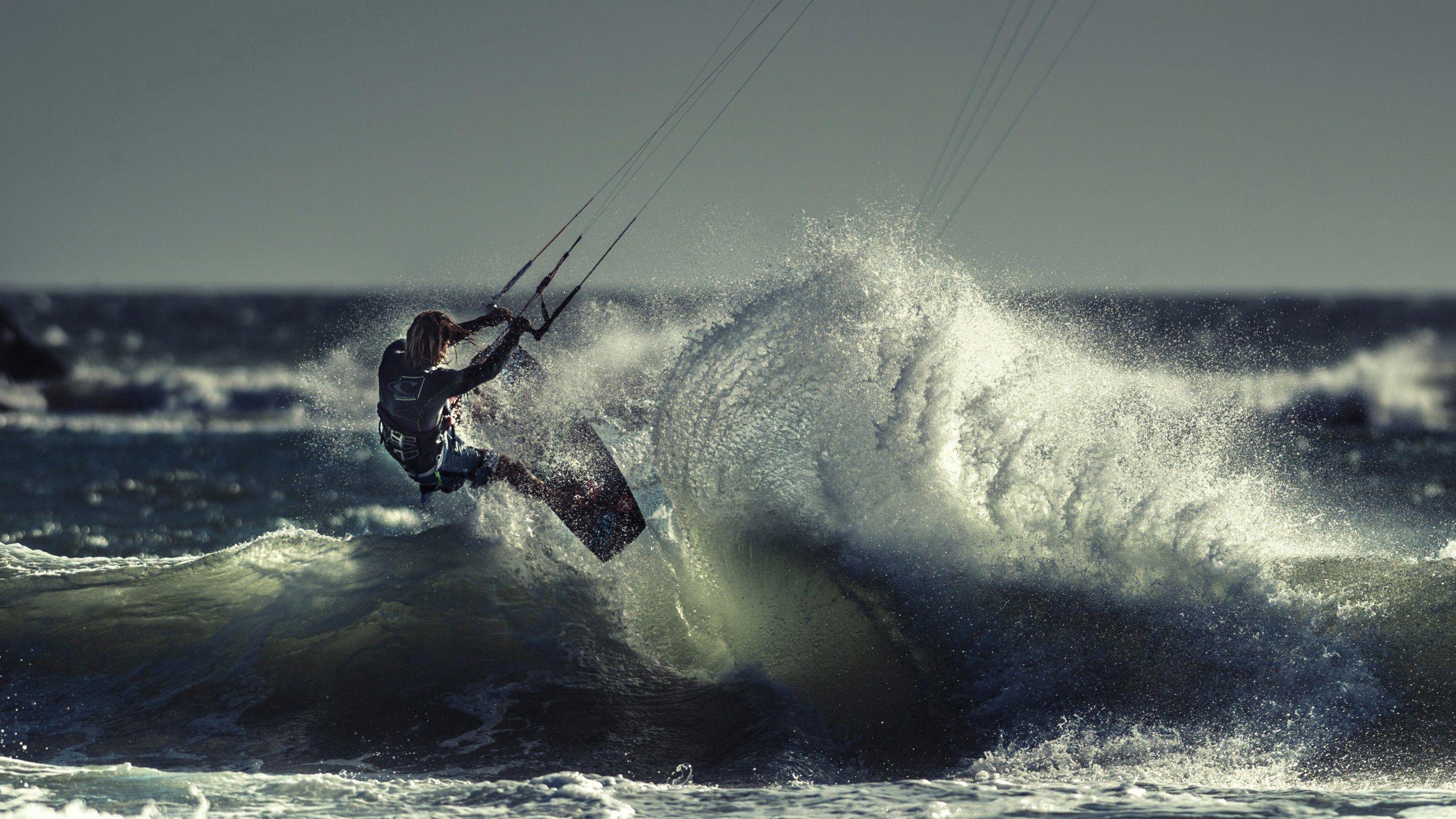 92681 скачать обои Спорт, Кайтсёрфинг, Спортсмен, Море, Океан, Волна - заставки и картинки бесплатно
