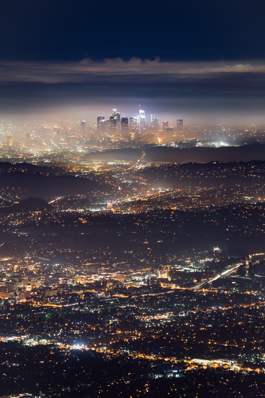 96367 descargar fondo de pantalla Ciudades, Noche, Brillar, Luz, Luces De La Ciudad, Megapolis, Megalópolis, Paisaje Urbano, Electricidad, Los Angeles, Los Ángeles: protectores de pantalla e imágenes gratis