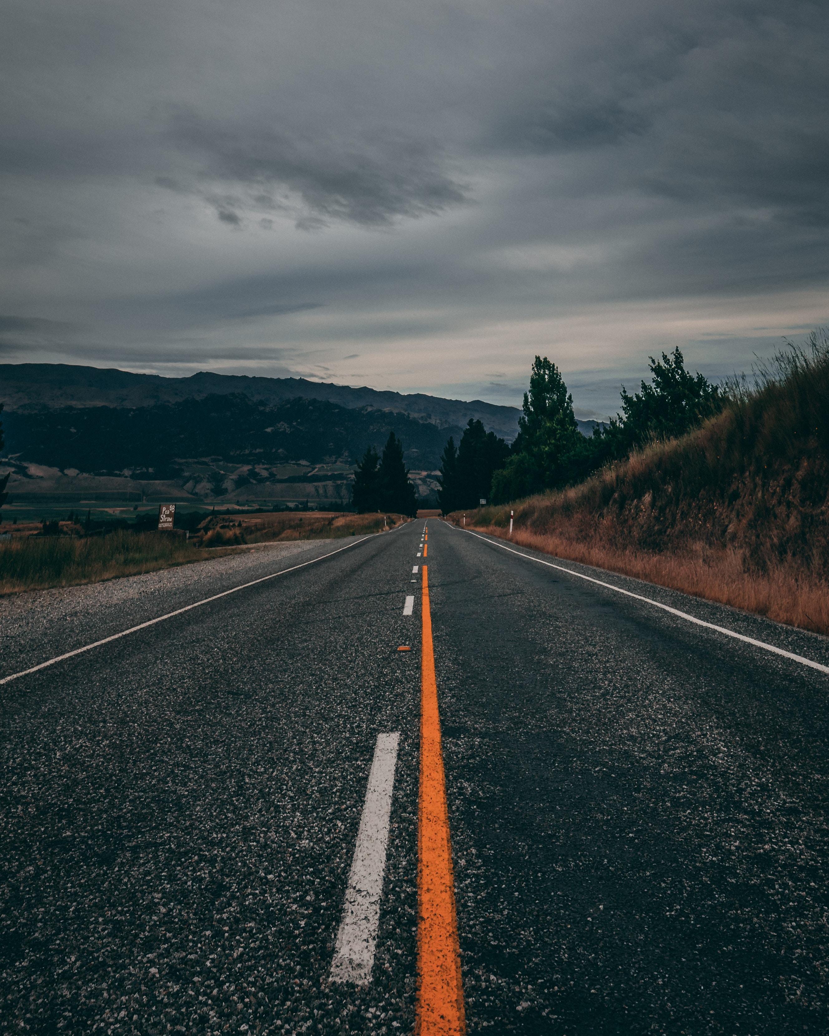 84279 Hintergrundbild 720x1280 kostenlos auf deinem Handy, lade Bilder Natur, Mountains, Neuseeland, Straße, Markup, Richtung 720x1280 auf dein Handy herunter