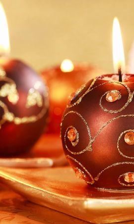 19404 скачать обои Праздники, Фон, Новый Год (New Year), Рождество (Christmas, Xmas), Свечи - заставки и картинки бесплатно