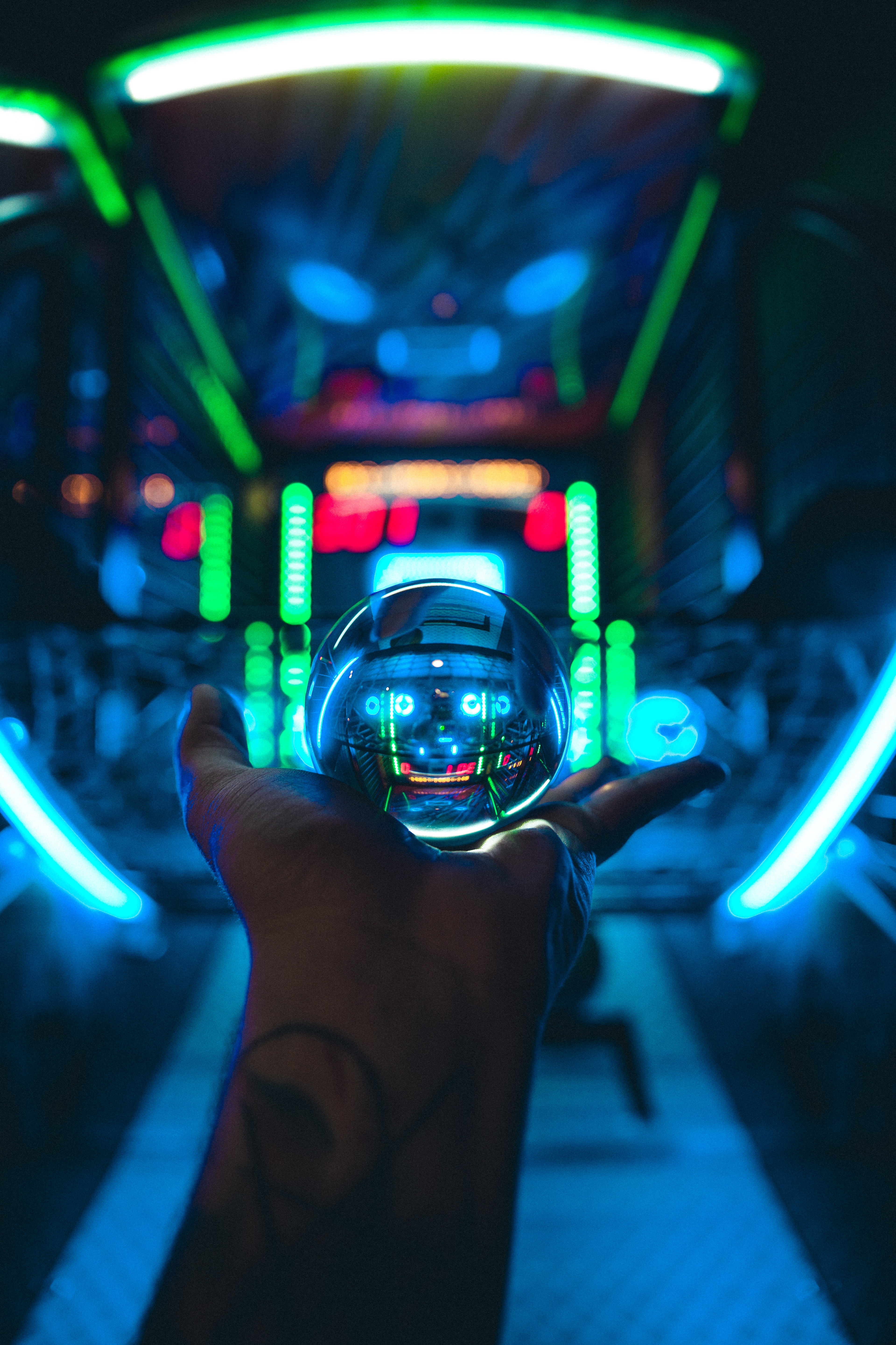 136444 Screensavers and Wallpapers Hand for phone. Download Miscellanea, Miscellaneous, Ball, Glass, Hand, Neon, Transparent pictures for free