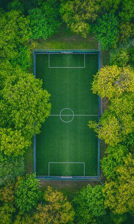 150135 descargar fondo de pantalla Deportes, Campo De Fútbol, Vista Desde Arriba, Árboles, Patio De Recreo, Plataforma: protectores de pantalla e imágenes gratis
