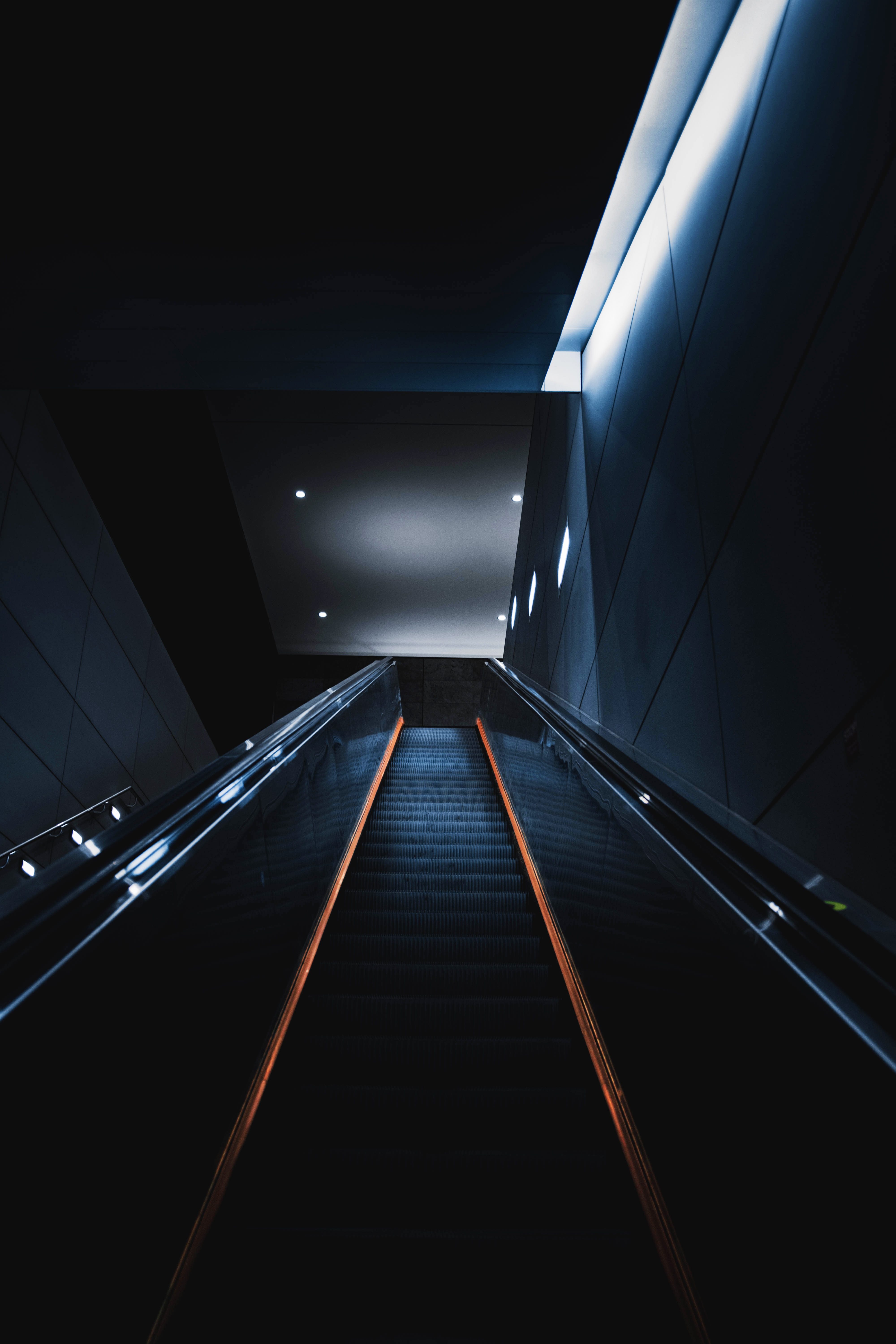 131917 Screensavers and Wallpapers Room for phone. Download Dark, Stairs, Ladder, Escalator, Design, Construction, Premises, Room pictures for free