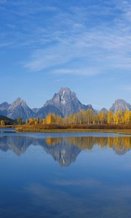 27552 скачать обои Пейзаж, Река, Небо, Горы - заставки и картинки бесплатно