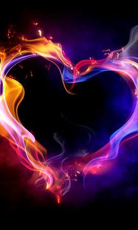 22271 скачать обои Праздники, Фон, Огонь, Сердца, Любовь, День Святого Валентина (Valentine's Day) - заставки и картинки бесплатно