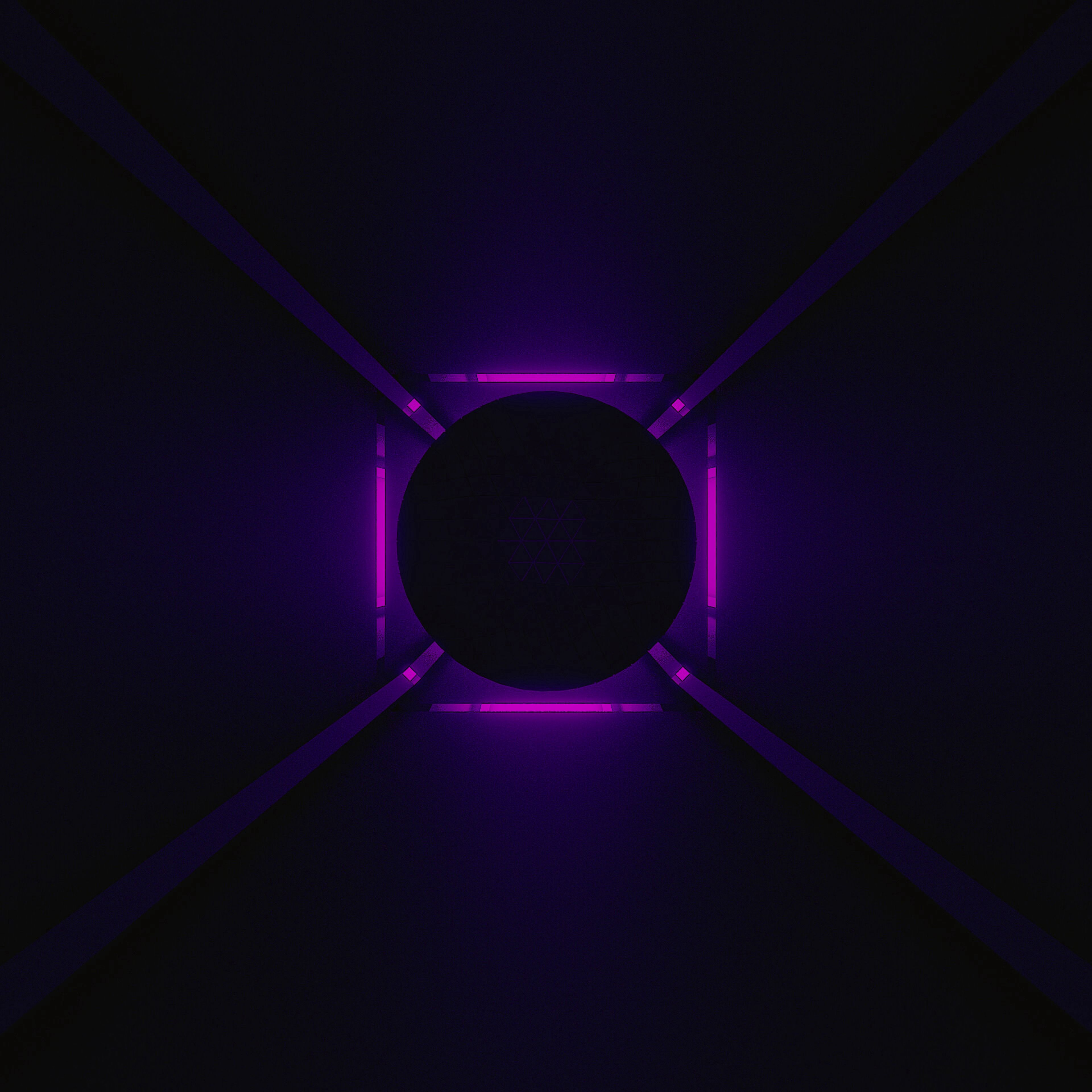 103090 download wallpaper Dark, Ball, Neon, Backlight, Illumination, Purple, Violet screensavers and pictures for free