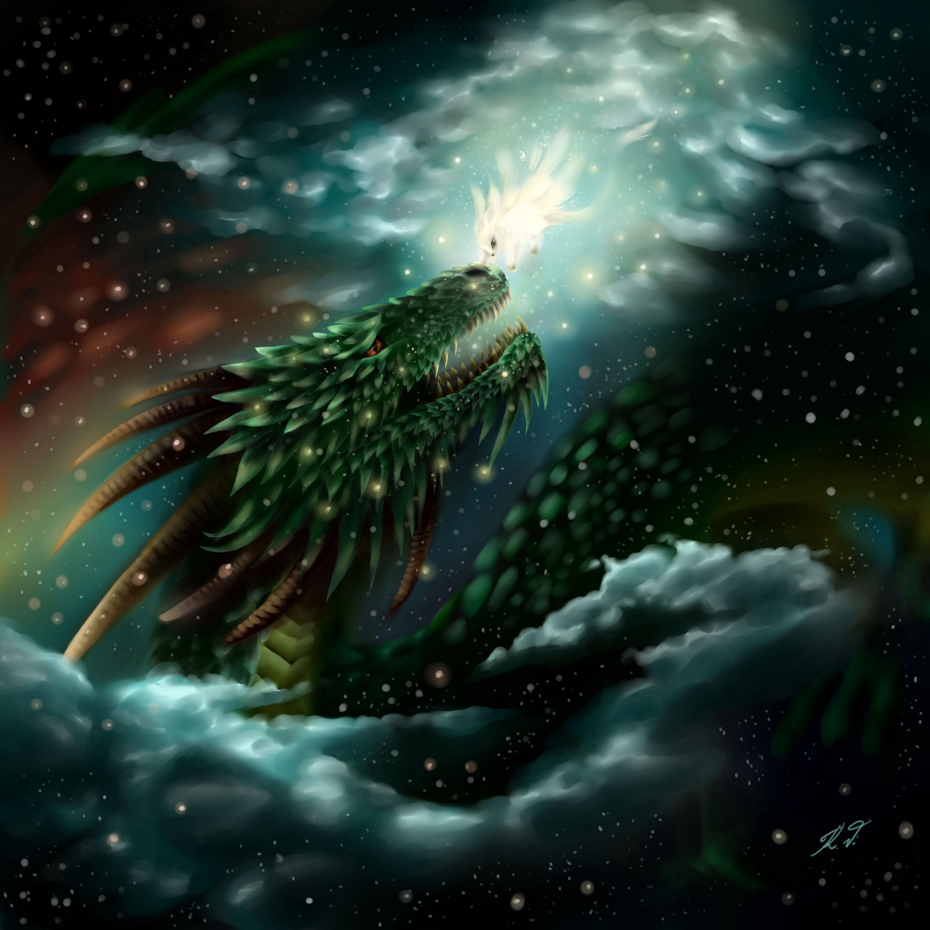 118520 Screensavers and Wallpapers Fiction for phone. Download Art, Glare, Glow, Dragon, Being, Creature, Fiction, That's Incredible pictures for free