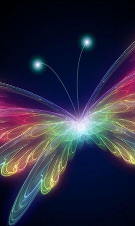 9226 скачать обои Бабочки, Насекомые, Арт, Рисунки - заставки и картинки бесплатно