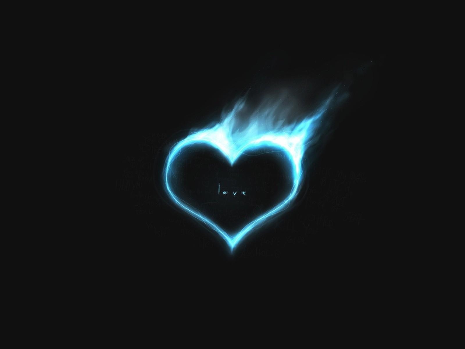 10221 скачать обои Сердца, День Святого Валентина (Valentine's Day), Рисунки, Огонь, Любовь - заставки и картинки бесплатно