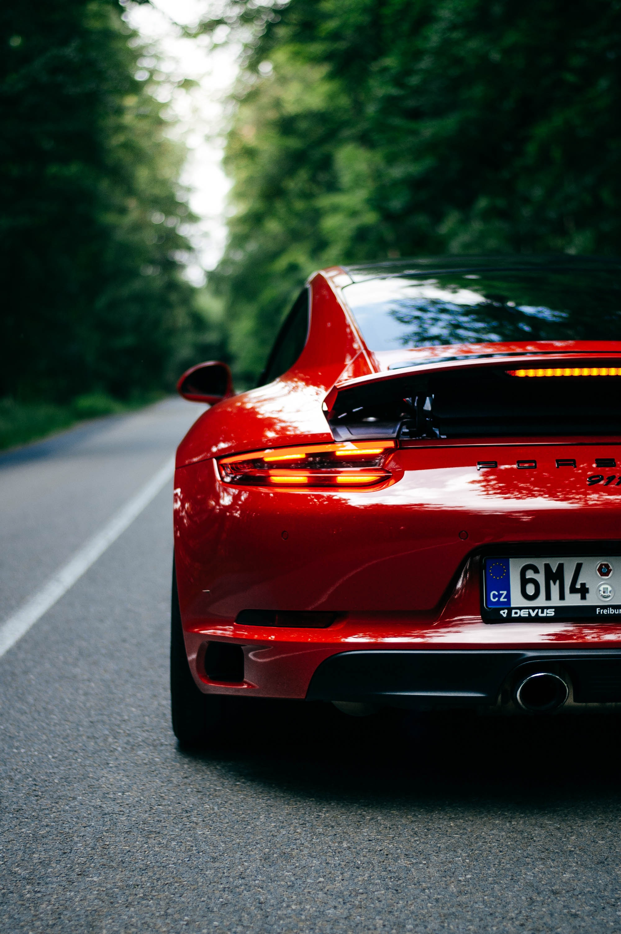 157239 download wallpaper Porsche, Sports, Cars, Road, Car, Machine, Sports Car, Back View, Rear View, Porsche 911 screensavers and pictures for free