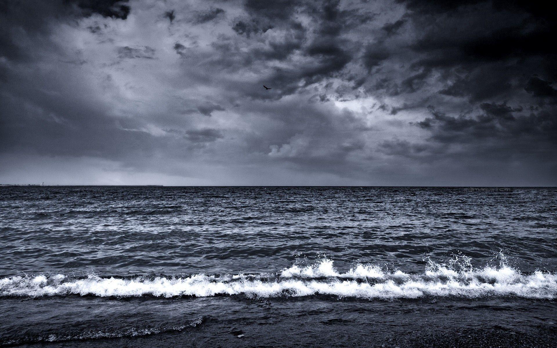 138546 Заставки и Обои Волны на телефон. Скачать Природа, Море, Прибой, Пена, Чб, Волны картинки бесплатно