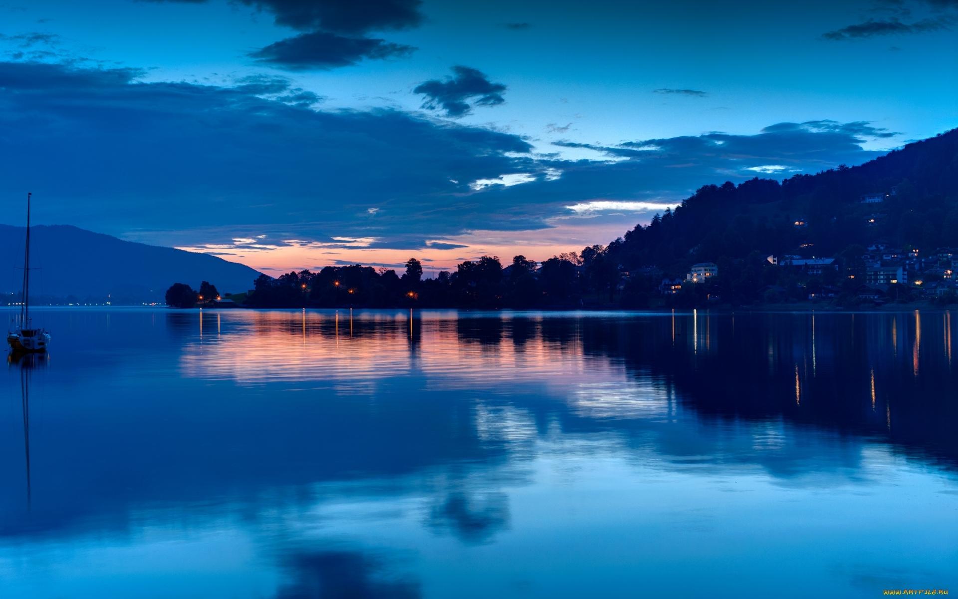 12353 скачать обои Пейзаж, Вода, Ночь, Озера - заставки и картинки бесплатно