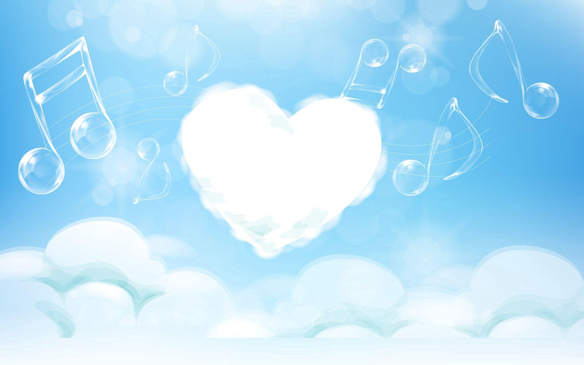 111697 baixar papel de parede Música, Abstrato, Luz, Cor Clara, Um Coração, Coração, Notas, Melodia - protetores de tela e imagens gratuitamente