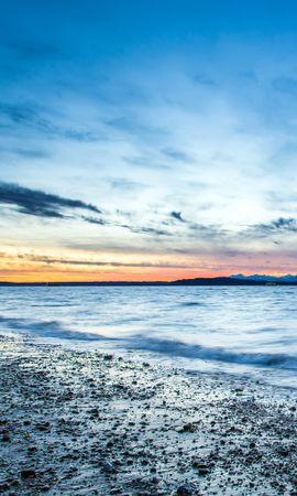19836 скачать обои Пейзаж, Закат, Небо, Море, Пляж - заставки и картинки бесплатно