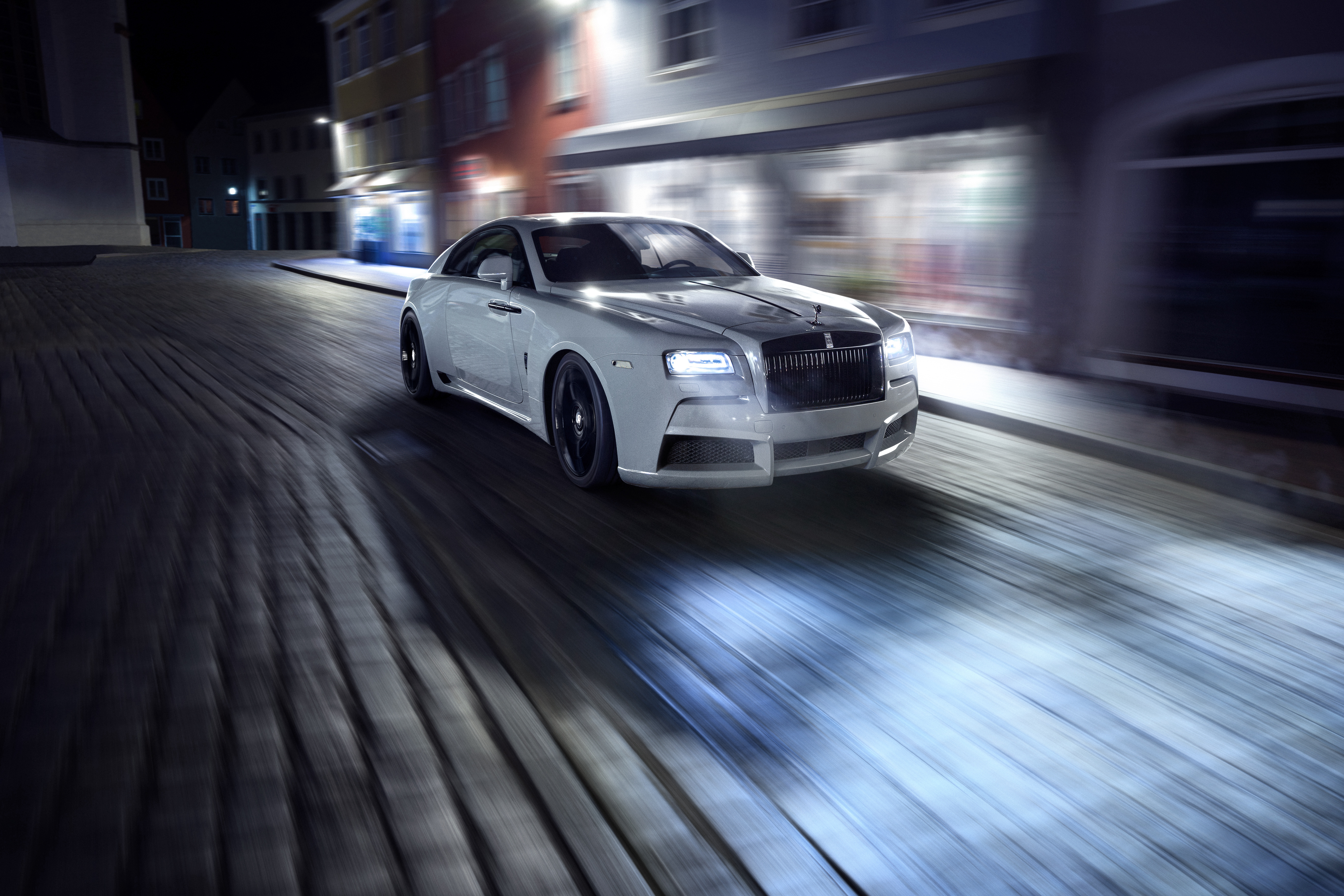 83837 papel de parede 2160x3840 em seu telefone gratuitamente, baixe imagens Rolls-Royce, Carros, Tráfego, Movimento, Vista Lateral, Rolls Royce, Spofec 2160x3840 em seu celular