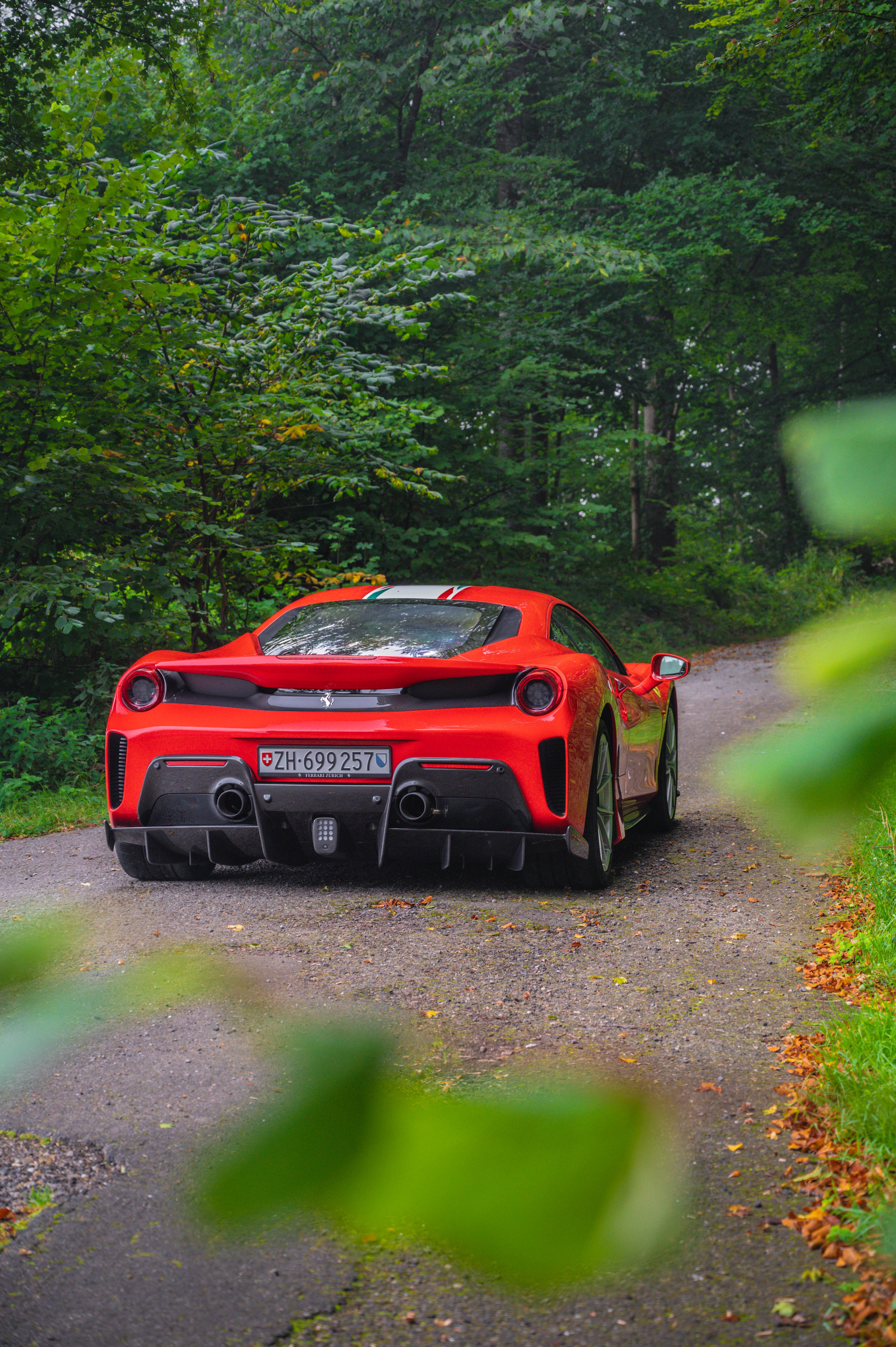 87768 download wallpaper Cars, Ferrari, Car, Sports Car, Sports, Back View, Rear View screensavers and pictures for free