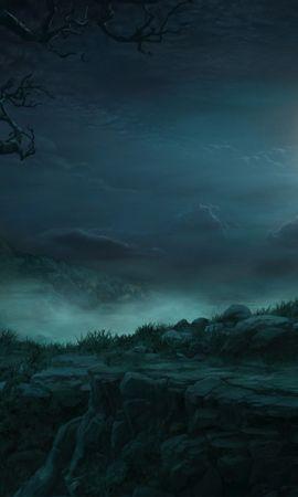 41742 скачать обои Пейзаж, Ночь, Луна, Рисунки - заставки и картинки бесплатно