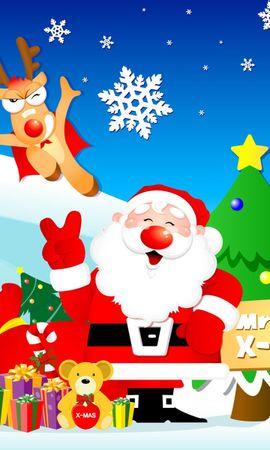 7691 descargar fondo de pantalla Vacaciones, Año Nuevo, Papá Noel, Navidad, Imágenes: protectores de pantalla e imágenes gratis