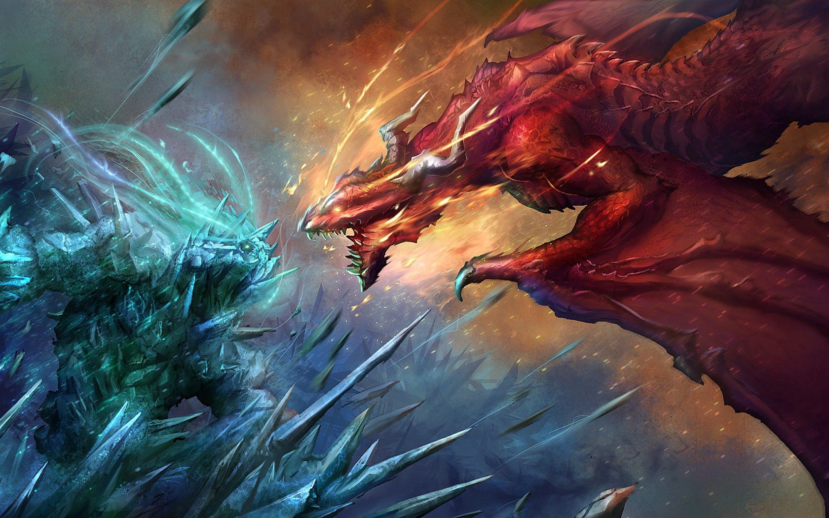 107277 Screensavers and Wallpapers Fiction for phone. Download Fantasy, Art, Dragons, Fiction, That's Incredible, Battle pictures for free