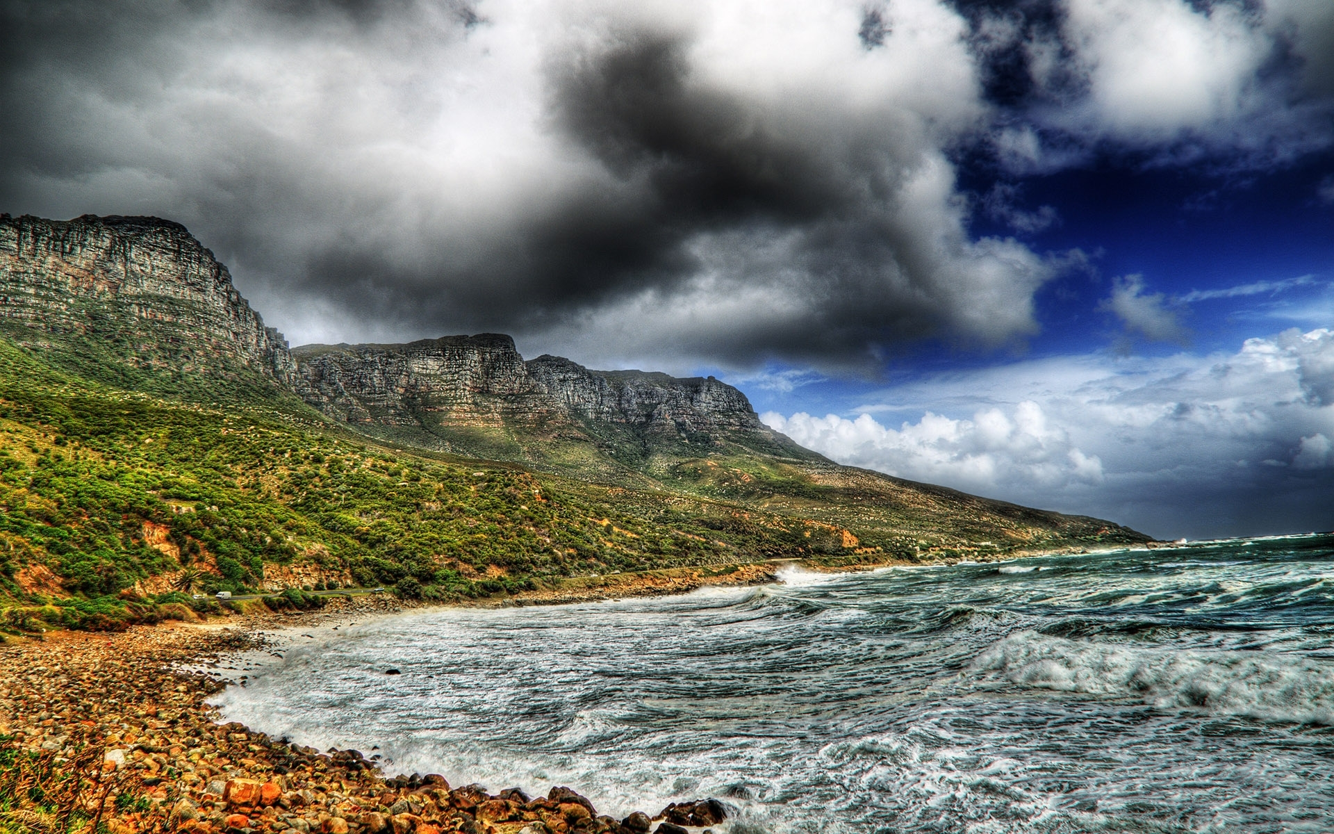 1653 download wallpaper Landscape, Sky, Mountains, Sea screensavers and pictures for free