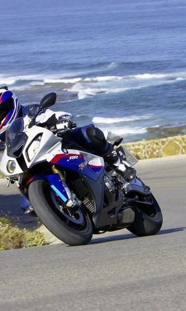129283 télécharger le fond d'écran Moto, Bmw S1000Rr, Bmw, Motocyclette, La Vitesse, Vitesse, Tour, Tourner - économiseurs d'écran et images gratuitement