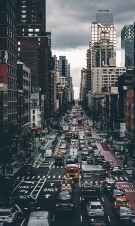 144059 download wallpaper City, Street, Transport, Traffic, Movement, Building, Cities screensavers and pictures for free