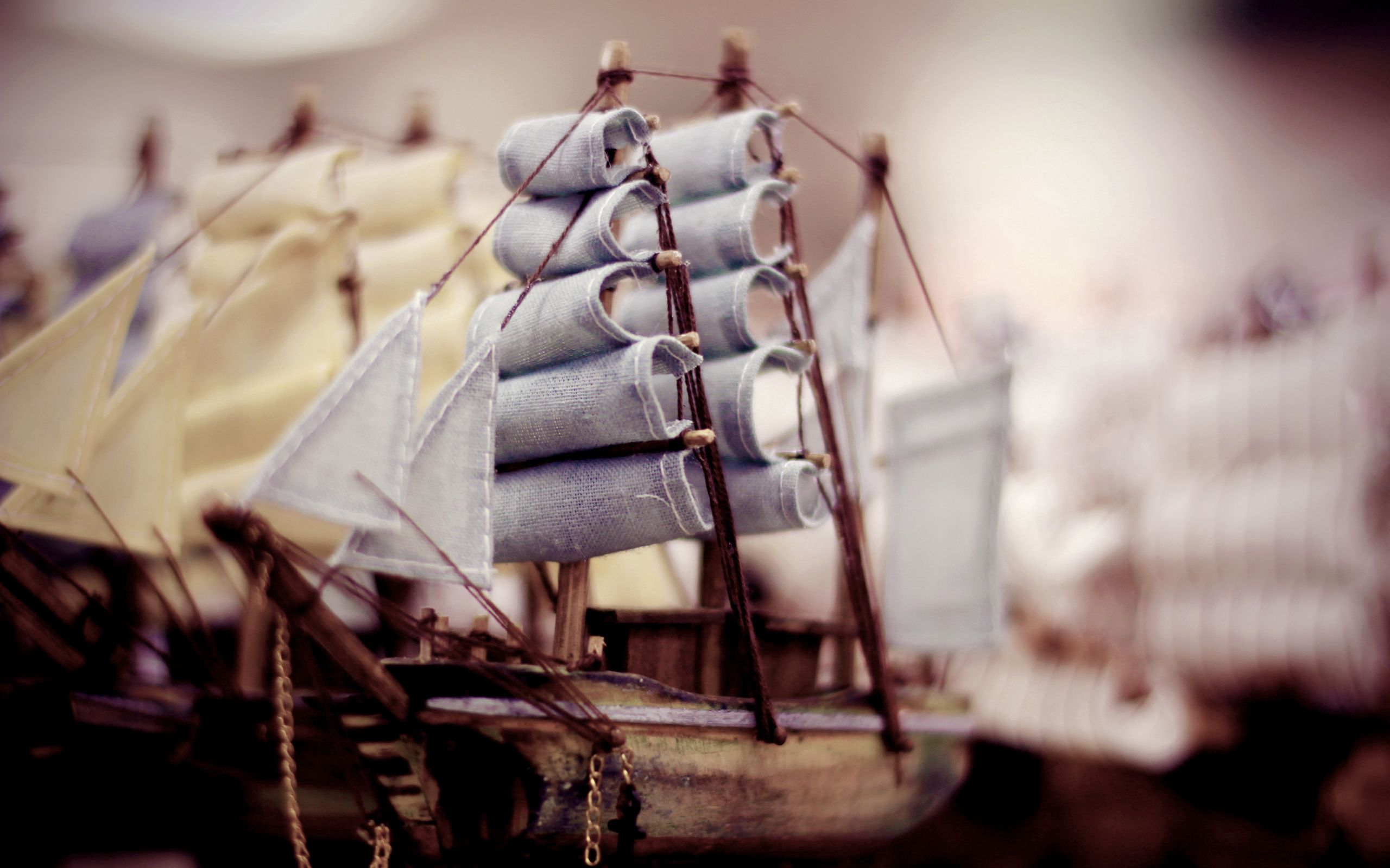 146023 download wallpaper Macro, Wood, Wooden, Toy, Sail, Sails, Ship, Vessel, Nautilus screensavers and pictures for free