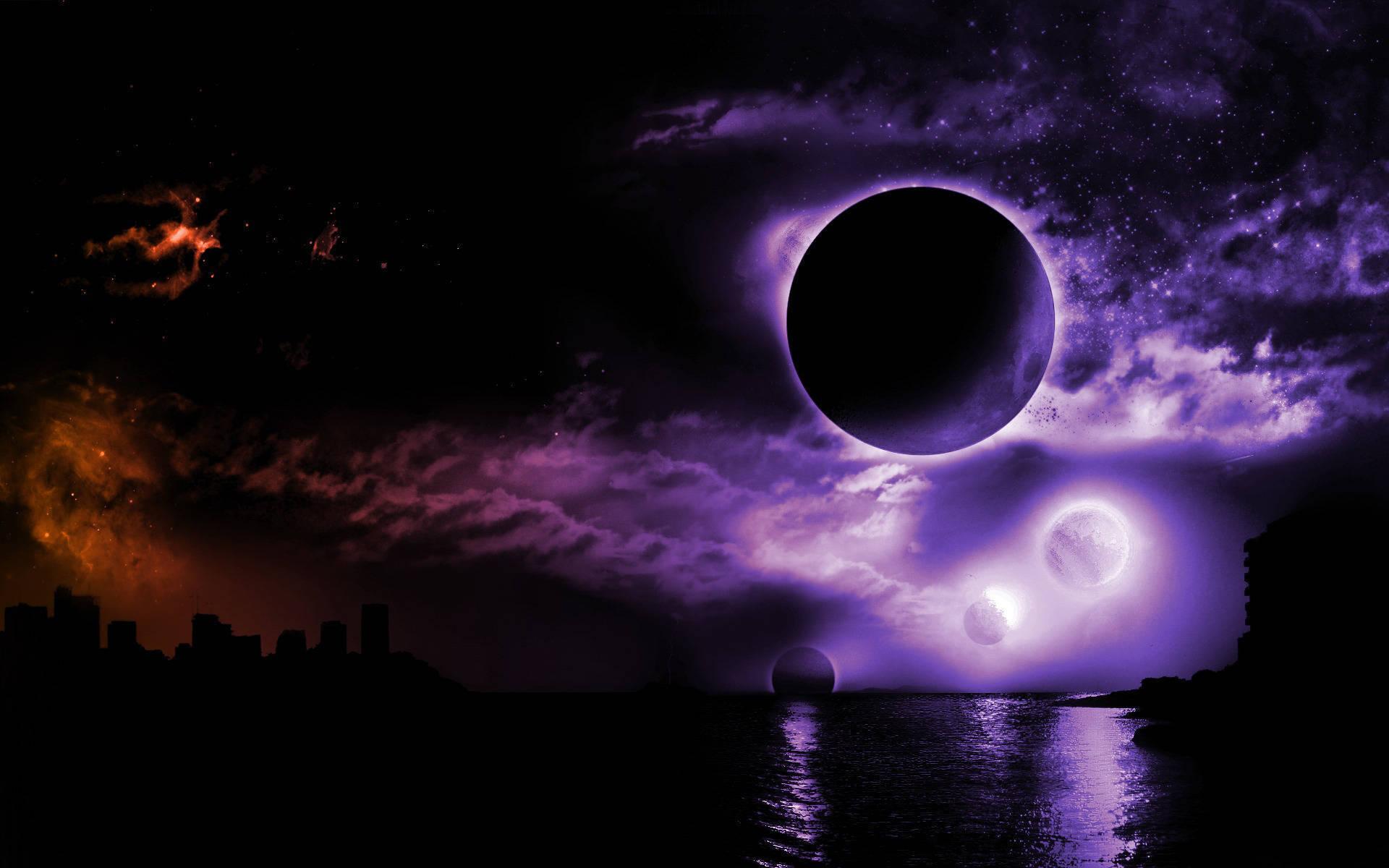 Скачать картинку Пейзаж, Небо, Ночь, Луна в телефон бесплатно.