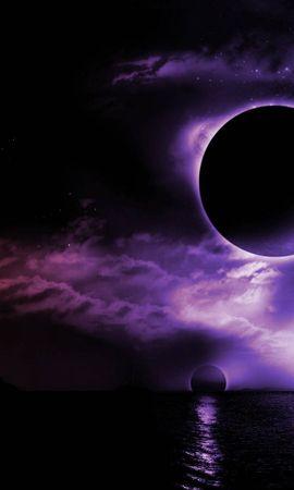 20732 скачать обои Пейзаж, Небо, Ночь, Луна - заставки и картинки бесплатно