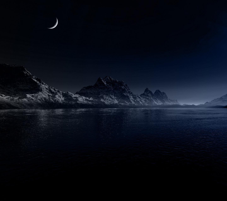 20898 Заставки и Обои Озера на телефон. Скачать Озера, Пейзаж, Горы, Ночь, Луна картинки бесплатно