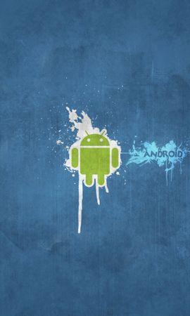 14829 скачать обои Бренды, Фон, Логотипы, Андроид (Android) - заставки и картинки бесплатно