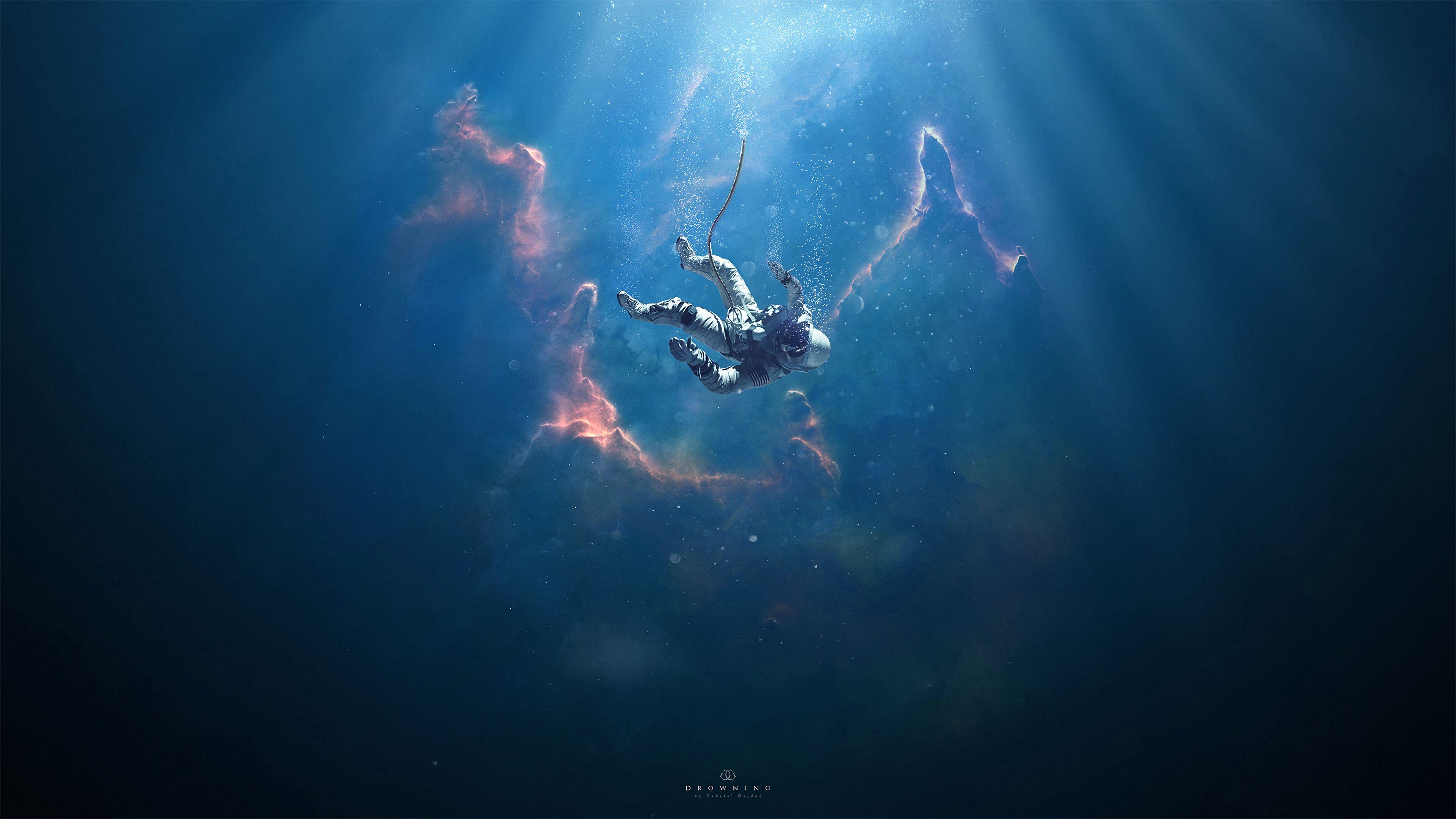 152791壁紙のダウンロード宇宙飛行士, コスモノート, 秋, 深さ, 浸漬, 没入, ビーム, 光線, 宇宙-スクリーンセーバーと写真を無料で