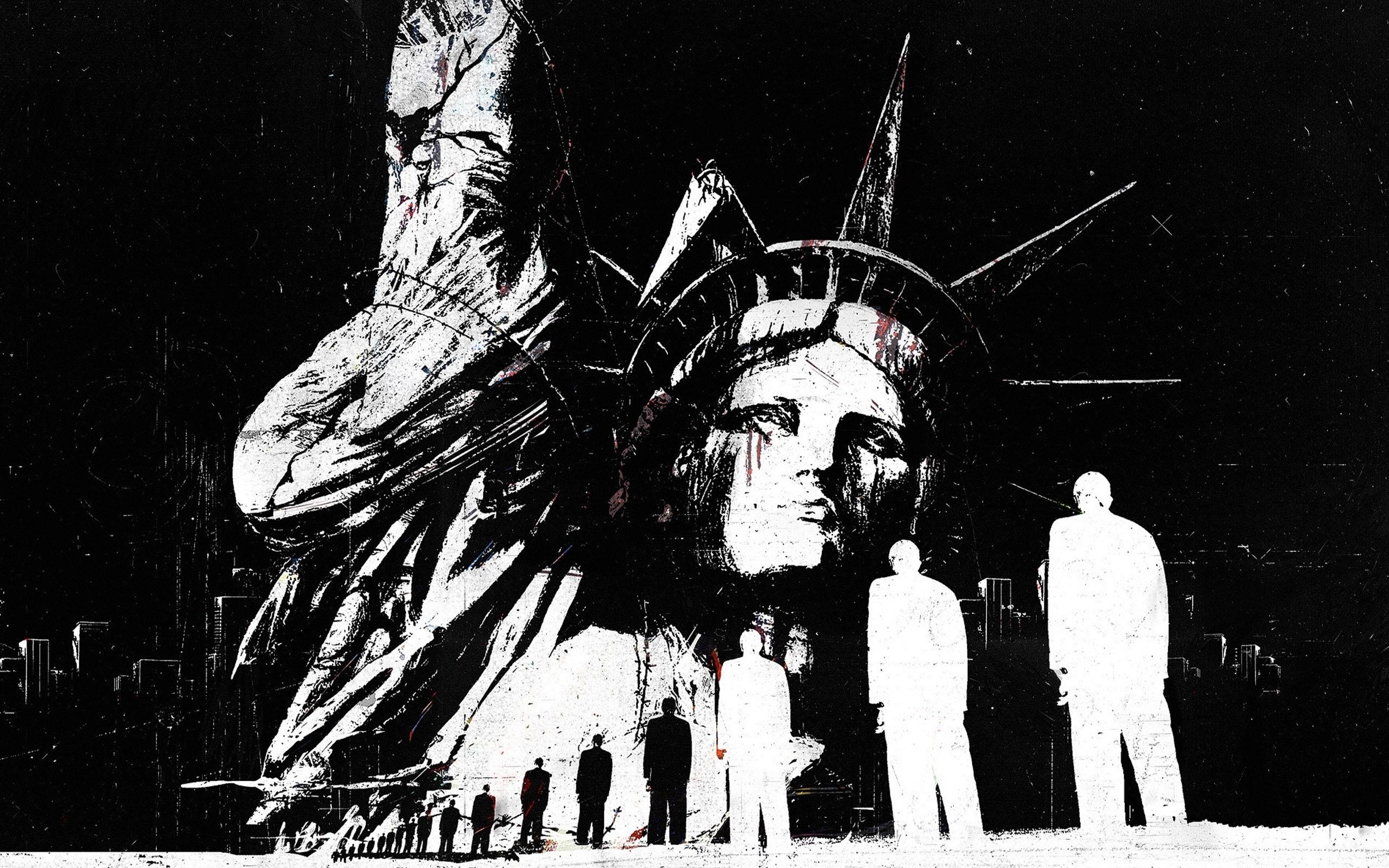48855 télécharger le fond d'écran Objets, Statue De La Liberté, Dessins - économiseurs d'écran et images gratuitement