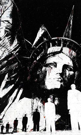 48855 скачать обои Объекты, Статуя Свободы, Рисунки - заставки и картинки бесплатно